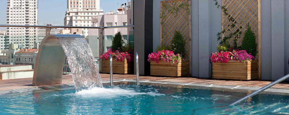Las mejores terrazas con vistas de Madrid. Hotel Mercure Santo Domingo