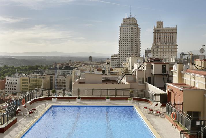 Las mejores Terrazas con vistas de Madrid. Hotel Emperador.