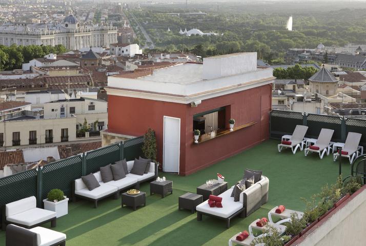 Las mejores terrazas con vistas de Madrid. Hotel Emperador