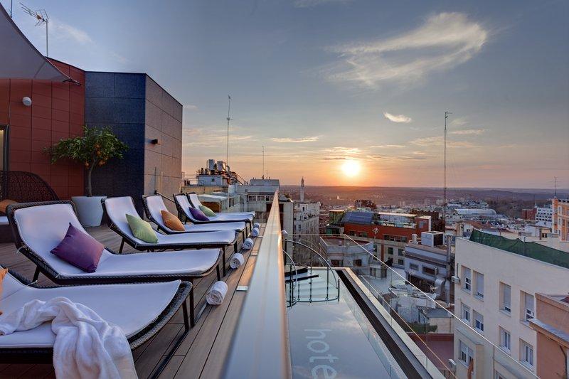 Las mejores terrazas con vistas de Madrid. Hotel Índigo.